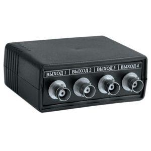 ВУ-1/4        :Разветвитель-усилитель видеосигнала, 1 вход, 4 выхода