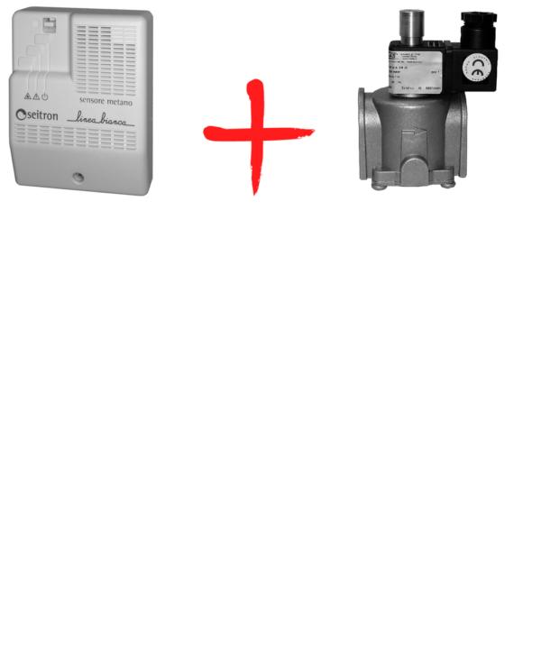 Бытовой комплект контроля загазованности Linea Bianca RGDM01+клапан DN25