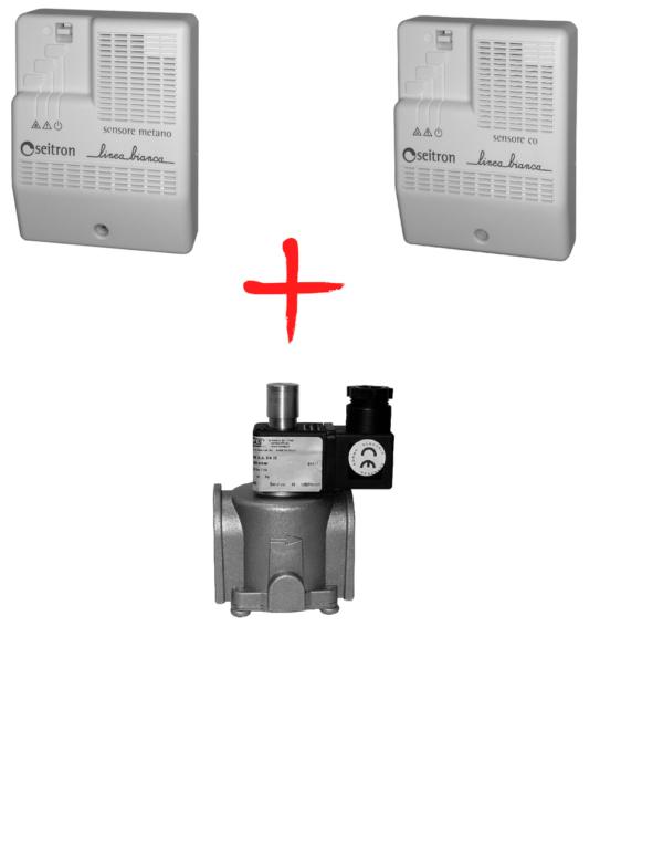Бытовой комплект контроля загазованности Linea Bianca RGDM01+RGDC01+клапан DN20