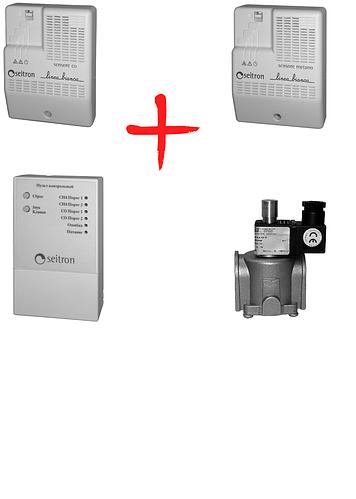 Бытовой комплект контроля загазованности Linea Bianca RGDM01+RGDC01+пульт управления+клапан DN20