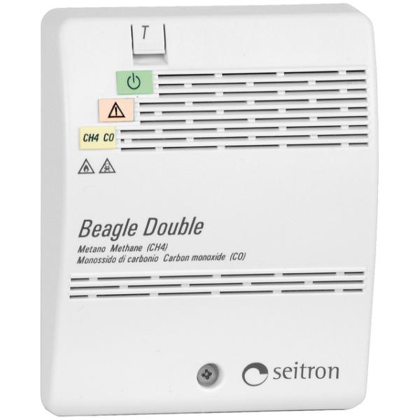Датчик загазованности на природный и угарный газы в одном корпусе RGDCM0MP1 Beagle Double. Seitron (Италия).