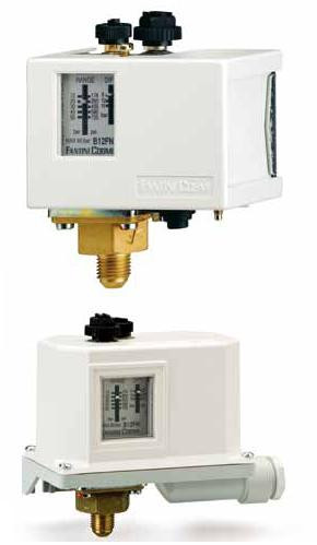 Датчики-реле давления до 300 бар с регулируемым дифференциалом B12FN, B12GN, B12HN. 12...50, с ручным сбросом (блокировкой)
