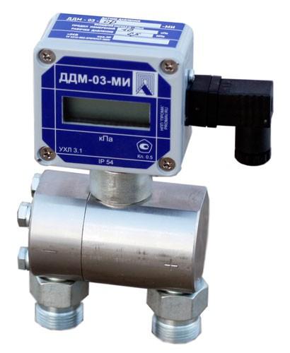 Дифманометр (перепадомер) ДДМ-03-МИ 3-х предельный, ЖК-индикациия, выход 4-20мА. Дилер.