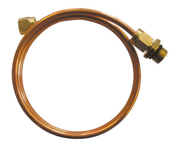 Импульсная трубка медная 8х1 для приборов КИП, 1 метр, резьба G1/2, G1/4, G3/8