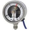 Электроконтактный манометр Тип 232.30, PGS-23 из нержавеющей стали, с защитой от выброса среды