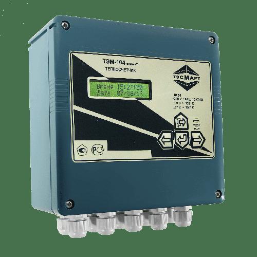 Электромагнитный теплосчетчик ТЭМ-104 Ду15 (Р) до 90°С (ППР; 1П;)