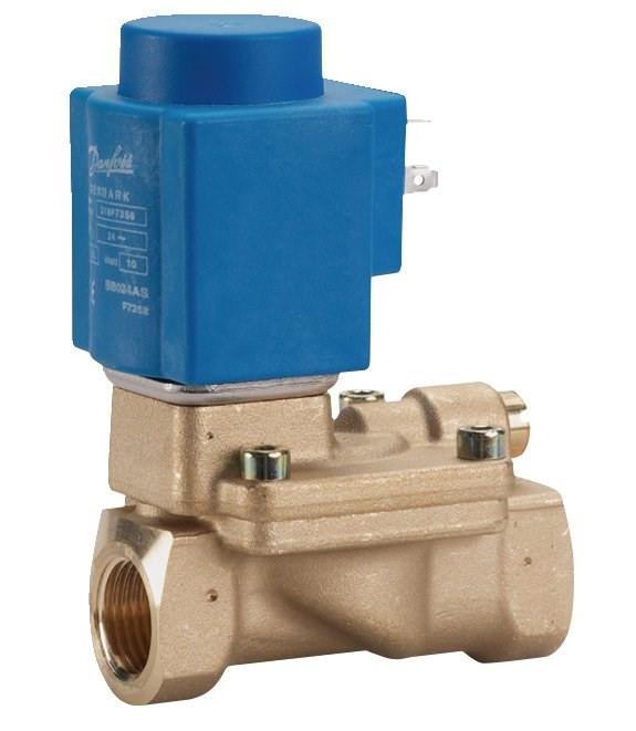 Клапан электромагнитный Н.О. и Н.З. не прямого действия EV220B Ду15...50мм, Danfoss 1, 4, NBR, нормально-закрытый, BB 24V DC
