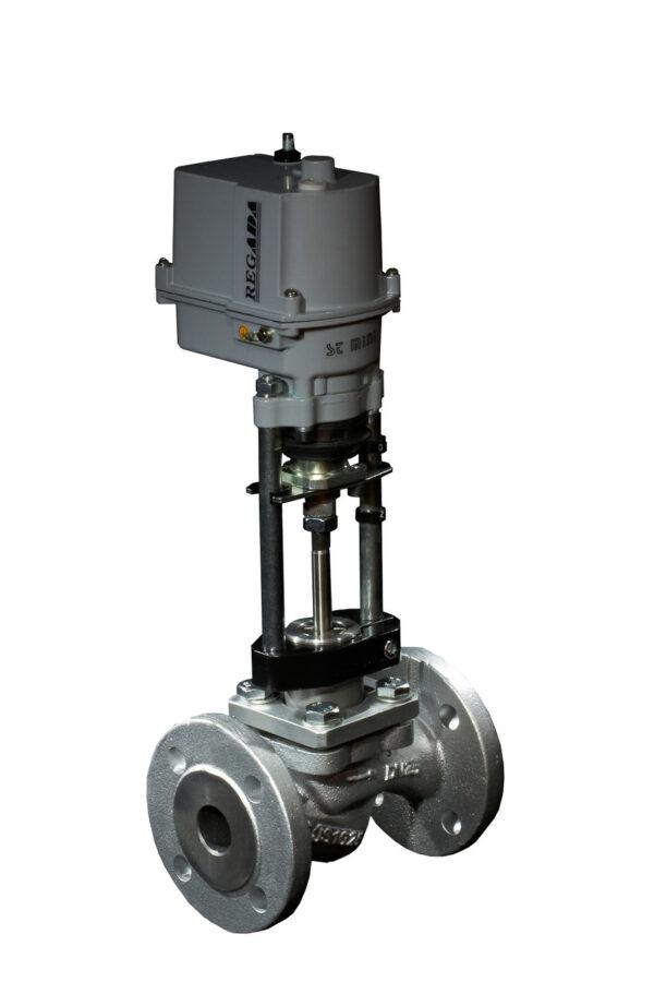 Клапан запорно-регулирующий КПСР серии 200 (25ч(кч)945п(нж) седельный фланцевый с ЭИМ Regada PN 2,5 МПа 200