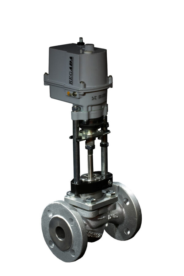Клапан запорно-регулирующий КПСР серии 210 (25с947нж) седельный фланцевый с ЭИМ Regada PN 4,0 МПа 50