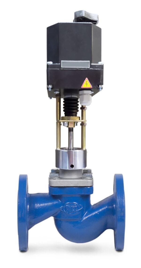 Клапан запорно-регулирующий (КЗР) 25ч945п односедельный фланцевый с ЭИМ PN1,6МПа 40