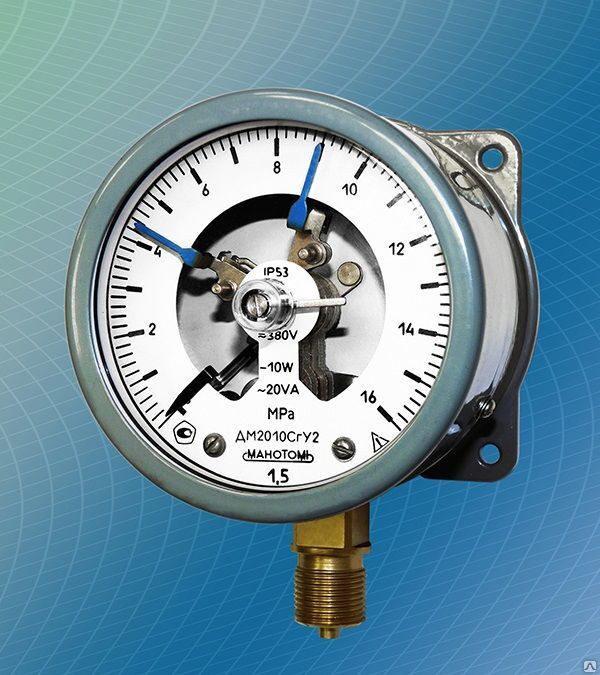 Манометр электроконтактный (сигнализирующий) ДМ2010Сг, ДВ2010Сг, ДА2010Сг