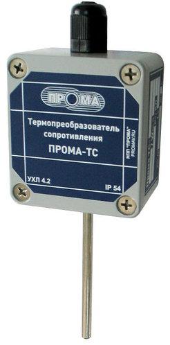 Преобразователь температуры ПРОМА-ПТ-200 (4-20мА), НПП ПРОМА ПТ-203Г (-50+400С) гладкая гильза 8мм, 300