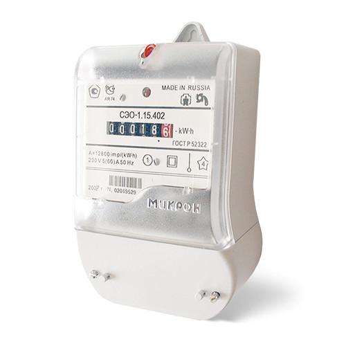 Счетчик электроэнергии СЭО-1.15.502 (Класс точности 1; 230B; 10(100) А)