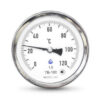 Термометр биметаллический осевой ТБ-63 G 1/2 Ру-25 от 0 до +200°C, ножка 50 мм