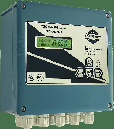 Электромагнитный теплосчётчик ТЭСМА-106.1 Ду25 (Р) до 90°С (ППР; 1П; Wi-Fi+USB+LAN+Web;)