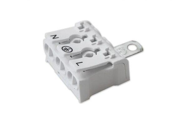 Проходная клемма Fixprovod с заземлением N-PE-L (3-полюсная)