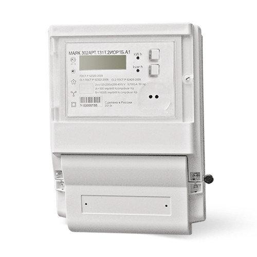 Счетчик электроэнергии МАЯК 302АРТ.131Т.2ИОР2Б.А1 (Оптопорт, RF (PIM_ISM 2400.3); Встроенная в RF модуль)