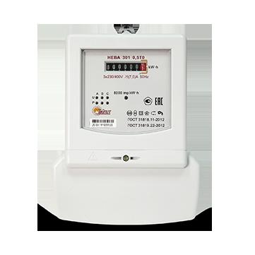 Счетчик электроэнергии НЕВА 301 0,5TO (230V/1(7,5) А)