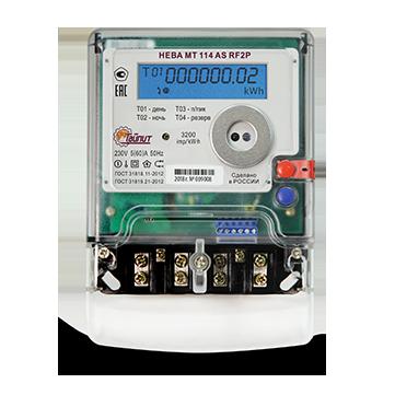 Счетчик электроэнергии НЕВА МТ 114 AS (RF2P 5(60))