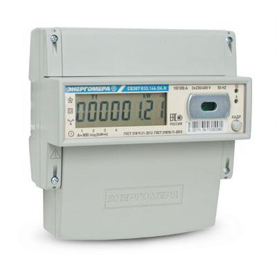 Счетчик электроэнергии трехфазный многотарифный Энергомера CE307 R33 (145.О)