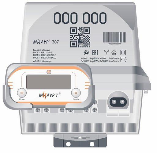 Счётчик электрической энергии Милур 307.32P-3-D (RF (433MHz))