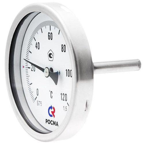 Термометр коррозионностойкий Росма Тип БТ, серия 220 (51.220 (0-160С) L=64)